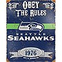 Seahawks Embossed Metal Sign