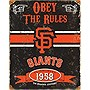 SF Giants Embossed Metal Sign