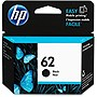HP 62 Original Ink Cartridge - Single Pack - Inkjet - 200 Pages - Black - 1 Each