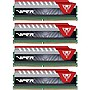 Patriot Memory Viper Elite 64GB (4x16GB) DDR4 2800 MHz Unbuffered Memory (Red)