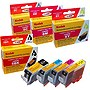 KODAK Remanufactured B/C/M/Y Ink Cartridge Combo Pack for Canon 0628B027