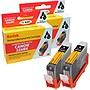 KODAK Remanufactured Black Ink Cartridge 2-Pack Compatible w/ Canon 4530B007