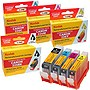 KODAK Remanufactured B/C/M/Y Ink Cartridge Combo Pack for Canon 4530B008