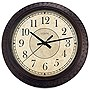 "La Crosse Technology 14"" Round Brown Plastic Analog Wall Clock"