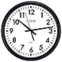 "La Crosse Technology 13.5"" ThinLine Black Round Quartz Analog Wall Clock"