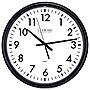 "La Crosse Technology 13.5"" ThinLine Black Round Quartz Analog Wall Clock"