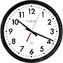 "La Crosse 14"" Black Round Commercial Analog Wall Clock"