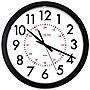"La Crosse 14"" Info-Tech Black Round Commercial Analog Wall Clock"
