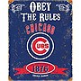 ChicagoCubs Embossd Metal Sign