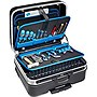 B&W International Tool Carrying Case with Document Partition - Black/Blue