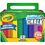 Crayola 48 Count Washable Sidewalk Chalk
