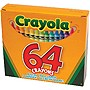 CRAYOLA 64 CT. CRAYONS 64 REG-SIZED CRAYONS HINGED BOX