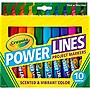 CRAYOLA 10 CT. POWER LINES MARKERS SCENTED PROJECT MARKERS
