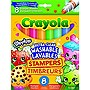 Crayola 8 Count Shopkins Ultra-Clean Washable Stamper Markers