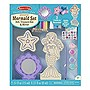 Melissa & Doug Decorate-Your-Own Wooden Mermaid Set