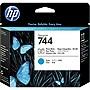 HP 744 Printhead - Photo Black, Cyan - Inkjet