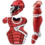 Easton M10 Adult Custom Catchers Set, Red