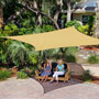 "Coolaroo Ready to Hang Square Shade Sail, Southern Sunset (11'10"" x 11'10"")"