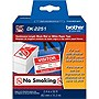 "Brother 2.4"" x 50ft Black/Red on White Continuous Length Paper Tape"