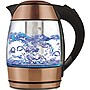 Brentwood KT-1960RG 1.8 Liter Electric Glass Kettle with Tea Infuser