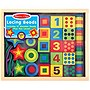 Melissa & Doug Deluxe Wooden Lacing Beads With 27 Beads and 2 Laces