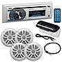 "Boss Audio Single-DIN Marine AM/FM CD Receiver w/ 4 x 6.5"" Speakers & Antenna"
