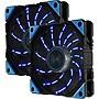Enermax+D.F.VEGAS+UCDFV12P-BL+120mm+PWM+Case+Fans+-+Blue+Twin+Pack
