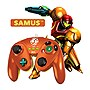 PDP+Wired+Fight+Pad+Controller+for+Nintendo+Wii%2fWii+U+-+Samus+(Metallic+Orange)