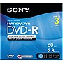 Sony DVD Recordable Media - DVD-R - 2.80 GB - 3 Pack Hanging Pack - 80mm Mini