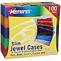 Memorex CD/DVD Jewel Cases - Plastic - Blue, Purple, Green, Orange, Pink - 100 CD/DVD