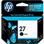 HP 27 Ink Cartridge - Black - Inkjet - 220 Page