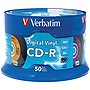 Verbatim+Digital+Vinyl+16x+CD-R+Media+-+700MB+-+50+Pack