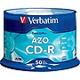 Verbatim CD-R 700MB 52X DataLifePlus with Branded Surface - 50pk Spindle