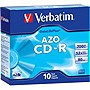 Verbatim DataLifePlus 94760 CD Recordable Media - CD-R - 52x - 700 MB - 10 Pack Slim Case - 1.33 Hour Maximum Recording Time