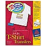 "Avery Iron-on Transfer Paper - Letter - 8.50"" x 11"" - Matte - 18 / Pack - White"