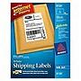 """Avery InkJet Shipping Labels - 5.50"""" Width x 8.50"""" Length - 50 / Pack - Rectangle - 2/Sheet - Inkjet - White"""
