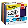 Memorex Mini DVD Cases - Polypropylene - Red, Blue, Green, Yellow, Purple