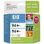 HP 94 Twinpack Black Ink Cartridge - Black - Inkjet