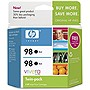 HP 98 Twinpack Black Ink Cartridge - Black - Inkjet