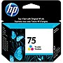 HP 75 Tri-color Ink Cartridge - Inkjet - 210 Pages - 1 Each