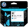 HP 91 Matte Black and Cyan Printhead - Matte Black, Cyan - Inkjet - 1 Each