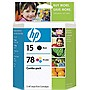 HP 15D / 78D Combo Pack - Black, Color - Inkjet - 600 Page Black, 450 Page Color - Retail