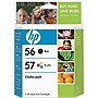 HP 56/57 Combo Pack Ink Cartridges - Black, Color - Inkjet - 20000 Page Black, 400 Page Color - 1