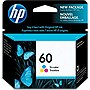HP 60 Tri-Color Ink Cartridge - Inkjet - Standard Yield - 165 Page - 1 Each