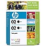 HP 02 Twinpack Black Ink Cartridge - Black - Inkjet - 480 Page - 2 / Pack