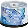 TDK 16x DVD-R Media - 4.7GB - 120mm Standard - 50 Pack Spindle