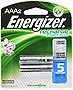 Energizer AAA Rechargeable NiMH Battery, 2-Pack