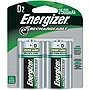Energizer General Purpose Battery - 2200mAh - D - Nickel Metal Hydride (NiMH)