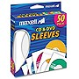 Maxell CD-400 CD/DVD Slide Insert Sleeves (50-Pack) - White