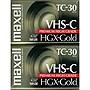 Maxell Premium VHS-C Videocassette - VHS-C - 30 Minute